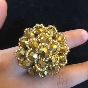 Gold Color Hand Crafted Ring (New)